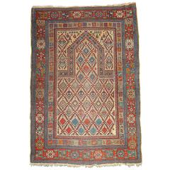 19th Century Shirvan Prayer Rug, circa 1870