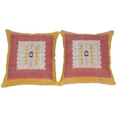 Antique Pillows Made Out of a Middle Eastern Pillow Tops