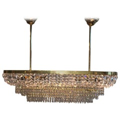Palwa Crystal Prism Chandelier Mid-Century 1970's Germany