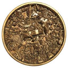 Toy Art Medallion in Gold by J. Santamar