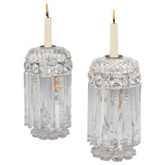 Exceptional Quality Pair of William IV Cut-Glass Lustres