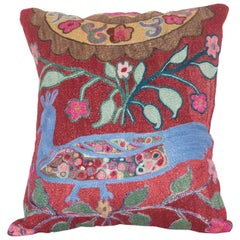 Vintage Pillow Made Out of a 1970s Pishkent Suzani