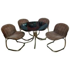 Set of Table and Chairs Gastone Rinaldi for RIMA, 1970