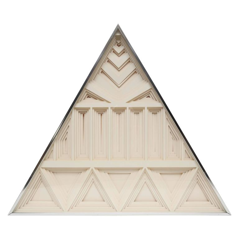 Greg Copeland Three-Dimensional Layered Paper Wall Sculpture, 1973 For Sale
