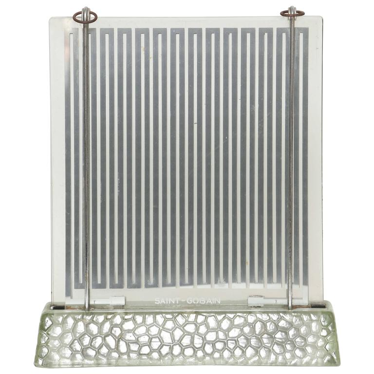 Rare Art Deco Glass Heater by Rene-Andre Coulon for Saint-Gobain, 1937 1