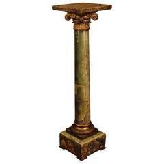 19th Century in the Style of Classicism Napoleon III Onyx Column