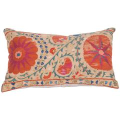 Antique Pillow Made Out of a Mid-19th Century, Uzbek Bukhara Suzani