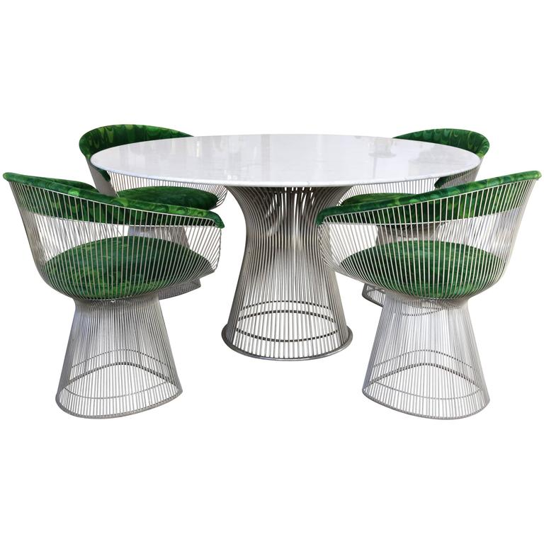 Four Piece Platner Table and Chairs
