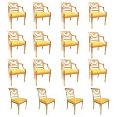 Set of 16 Hollywood Regency Style Dining Chairs '12-Arm and four Side Chairs'