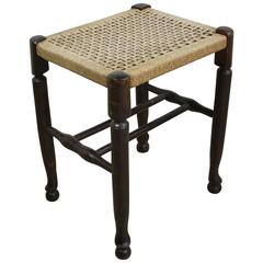 Antique English Rush Stool
