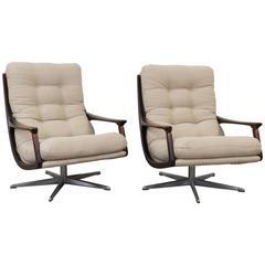 Pair of 1970s Swivel Chairs