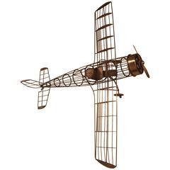 Great Modernist Curtis Jere Airplane Sculpture