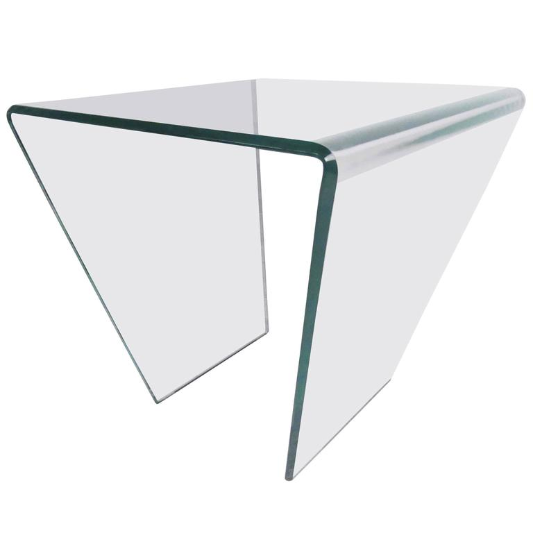 Delicieux Contemporary Modern Curved Glass End Table