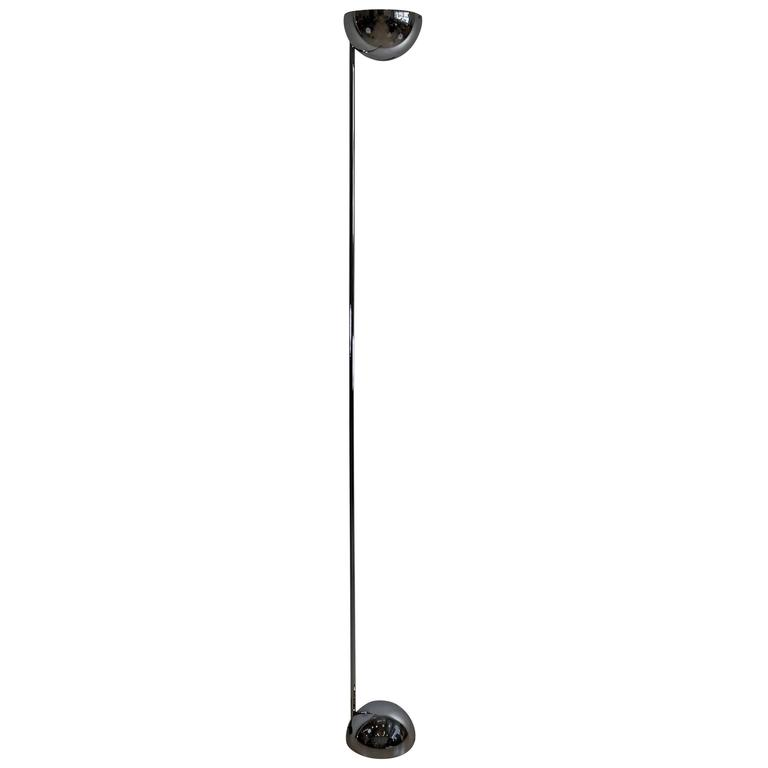 Robert Sonneman Mid-Century Modern Chrome Torchere Floor Lamp