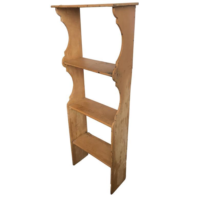 19th Century French Pine Hanging Shelf