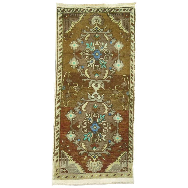 Brown Vintage Turkish Rug