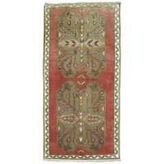 Vintage Tribal Anatolian Rug Mat