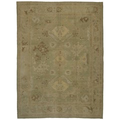 New Contemporary Turkish Oushak Rug with Transitional Style in Neutral Colors