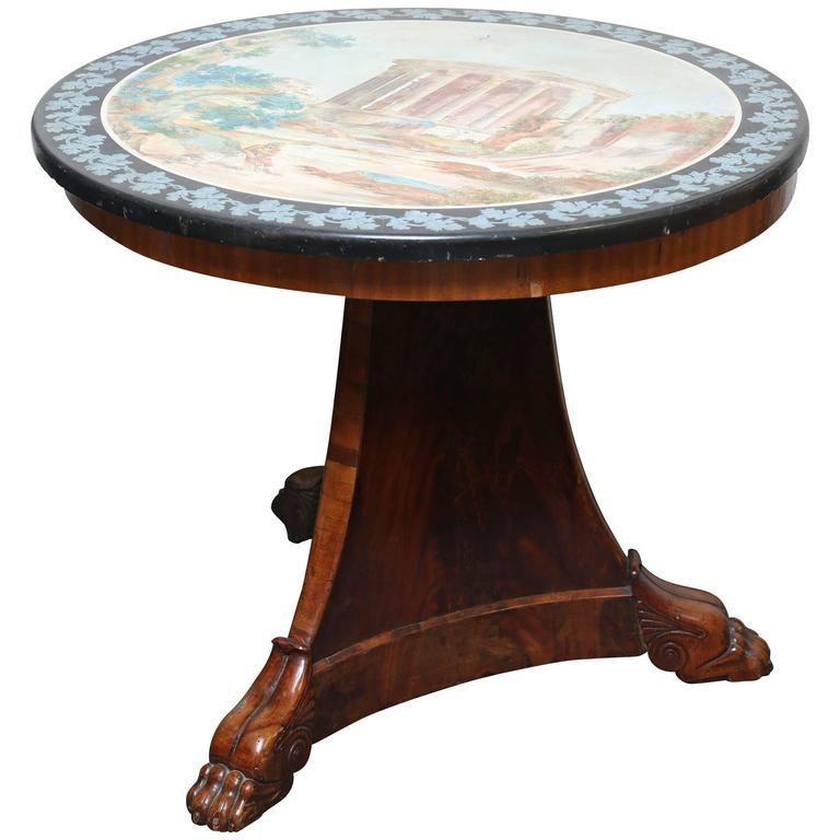 Fine Scagliola Centre Table