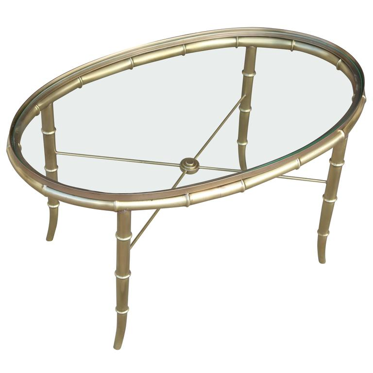 Superb Mastercraft Style Faux Bamboo Cocktail Table