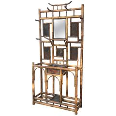 Superb 19th Century English Bamboo Hall Stand