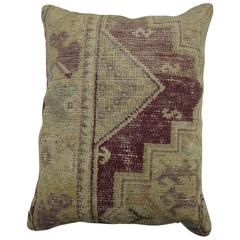 Purple Oushak Rug Pillow