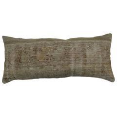 Bolster Oushak Rug Pillow in Shabby Chic