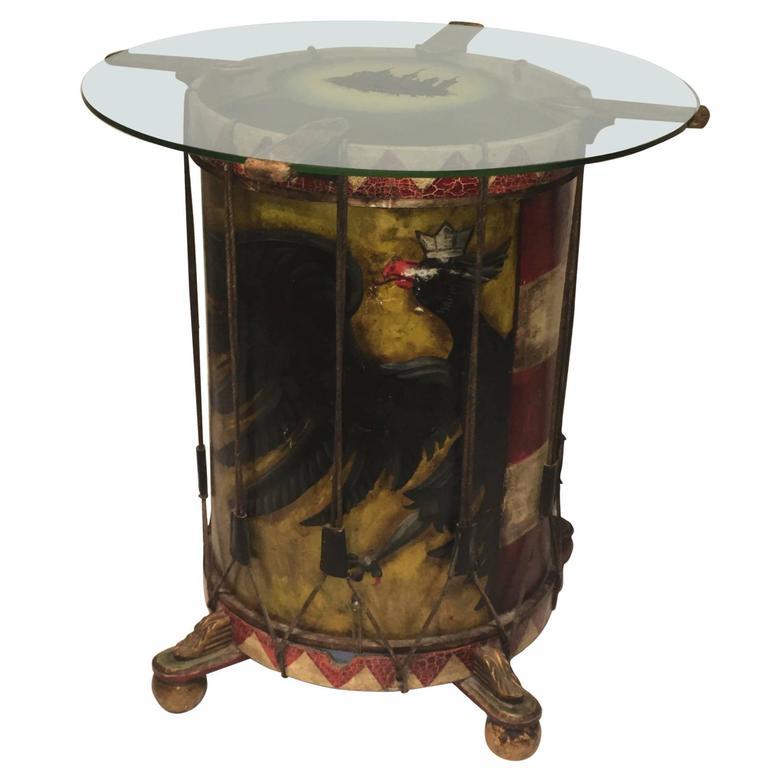 Vintage Nuremberg City Guard Drum Table, Dated 1938 For Sale