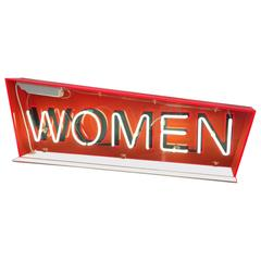 Vintage Neon Women Restroom Changing Room Bathroom Sign Advertising Reclamation