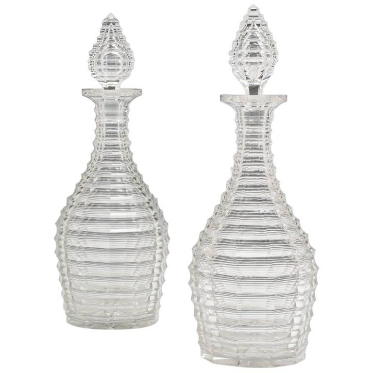 Exceptional Pair of Victorian Decanters