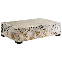 Bronze and Cow Hide Coffee Table