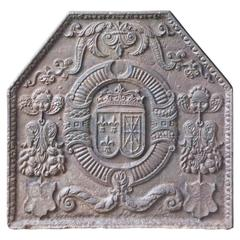 17th Century 'Arms of France and Navarre' Fireback