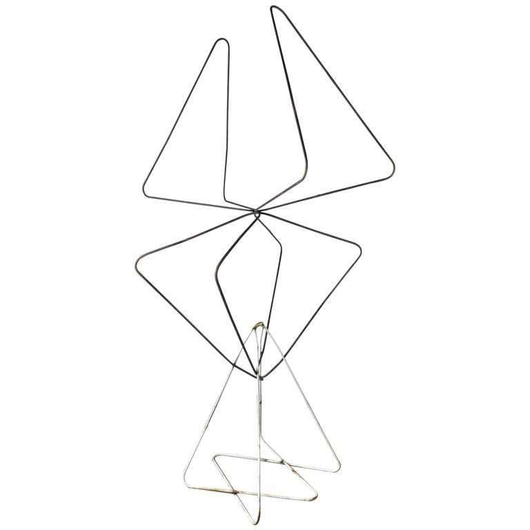 "Monumental Modernist ""Butterfly Chair"" Iron Sculpture, Jorge Ferrari-Hardoy"