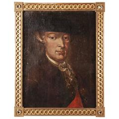 18th Century Oil Paint Portrait by Friedrich Wilhelm von Haugwitz