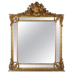 19th Century Napoleon III Gilded Salon Mirror