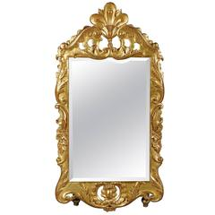 18th Century Baroque Gold Leaf Mirror