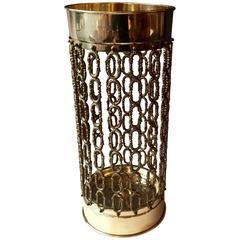1950s Intricate Brass Umbrella Stand