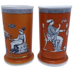 Superb Copeland Art Deco Small Vases