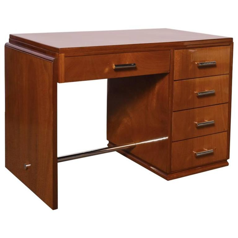 Art Deco Mahogany Desk For Sale