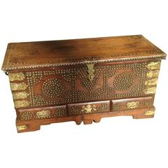 Enchanting Antique Anglo-Indian Dowry Chest