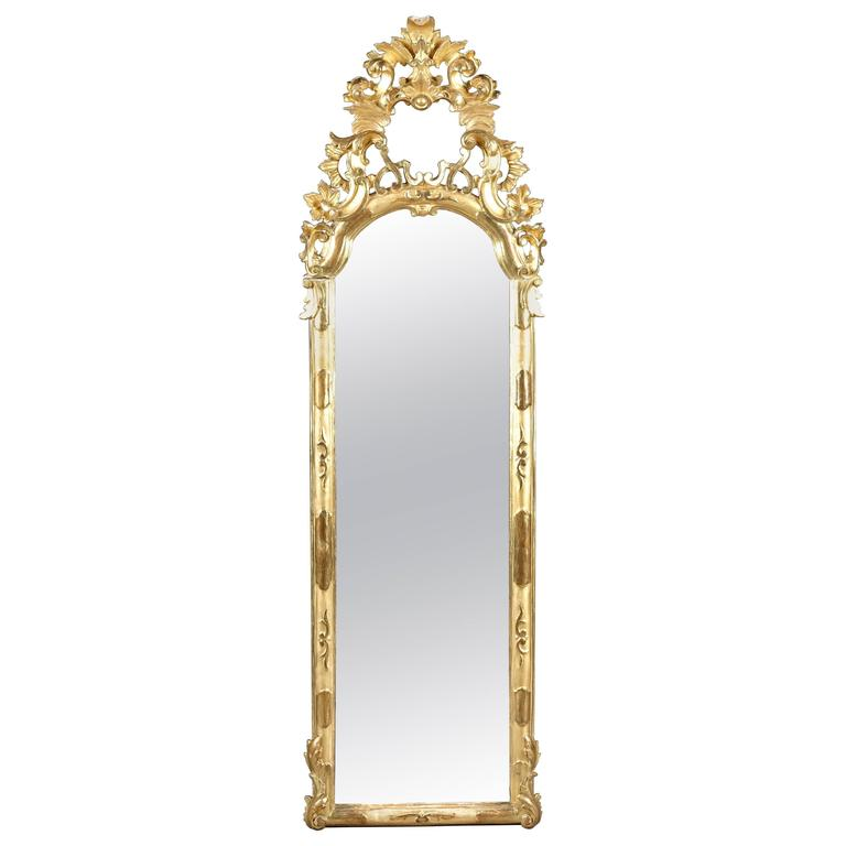 18th Century Baroque Gold Leaf Mirror For Sale At 1stdibs