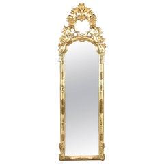18th Century Baroque Gold Leaf Mirror