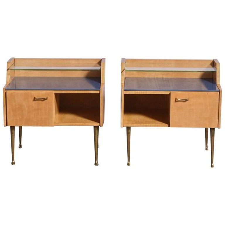 Pair of 1950s Nightstands For Sale