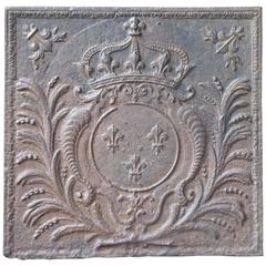 17th-18th Century Arms of France Fireback