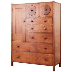Arts and Crafts Oak Chest of Drawers