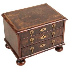 William & Mary Oyster Veneered Miniature Chest