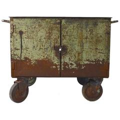 Two Door Industrial Cart on Wheels