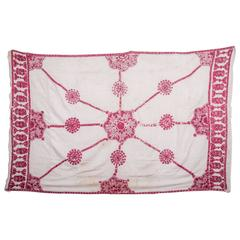 Sind Wedding Shawl, Embroidered in Floss Silk on Cotton