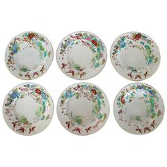 Set of Six Chinese Export Plates