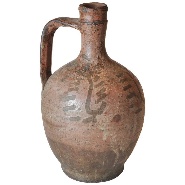 19th Century Original Paint/Glaze Peruvian Vessel